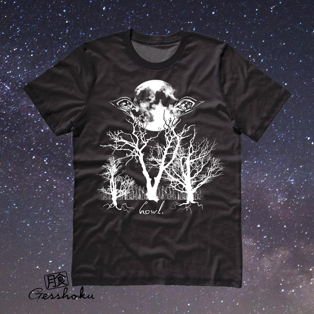 Howl: Eyes of the Night Forest T-shirt - Black