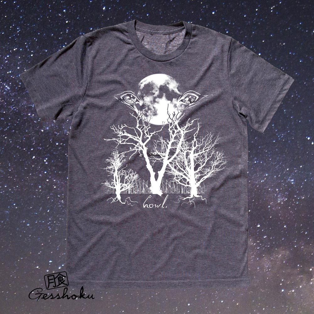 Howl: Eyes of the Night Forest T-shirt - Charcoal Grey