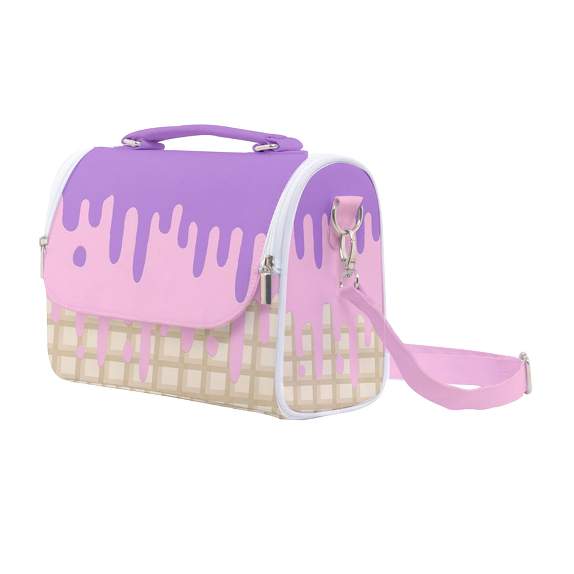 Kawaii Ice Cream Satchel Shoulder Bag - Purple