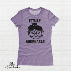 Totally Adorkable Ladies T-shirt