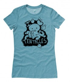 I Love Tentacles Ladies T-shirt
