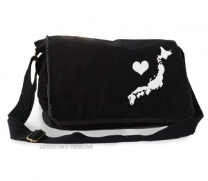 My Heart in Japan Messenger Bag