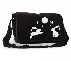Asian Moon Bunnies Messenger Bag