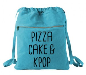 Pizza Cake & KPOP Cinch Backpack