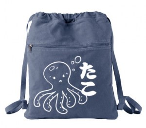 I Love TAKO - Kawai Octopus Cinch Backpack