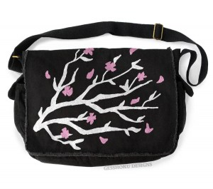 Sakura Cherry Blossoms Messenger Bag
