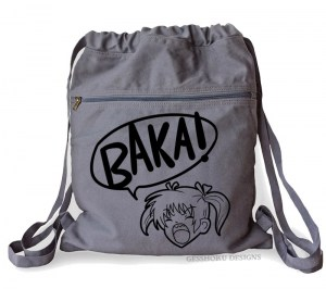 Yelling Anime Girl Cinch Backpack