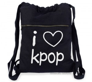 I Love KPOP Cinch Backpack