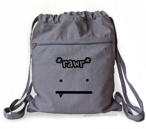 Rawr Face Cinch Backpack