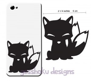 Chibi Kitsune Phone Sticker