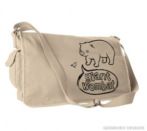 Giant Wombat Messenger Bag