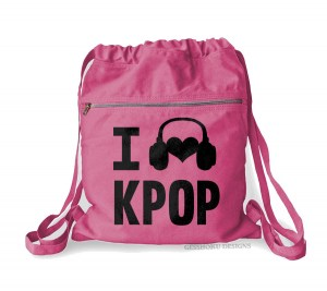 I Listen to KPOP Cinch Backpack