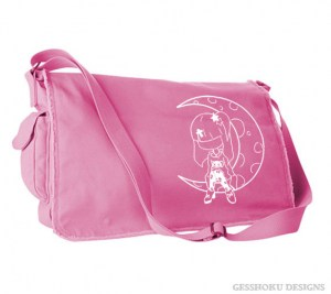 Pastel Moon Messenger Bag