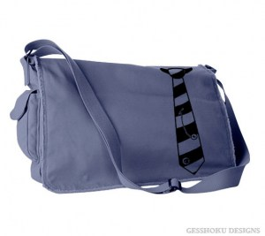 Fabulously Punk Striped Tie Messenger Bag