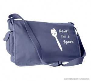 Rawr! I'm a Spork Messenger Bag