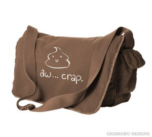 Aw Crap! Kawaii Poop Messenger Bag