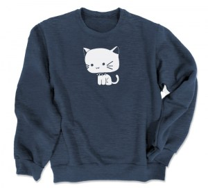Chibi Goth Kitty Crewneck Sweatshirt