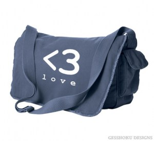 Digital Love Heart Messenger Bag