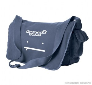 RAWR Face Messenger Bag