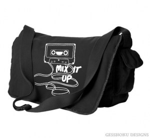 Mix It Up Retro Cassette Tape Messenger Bag