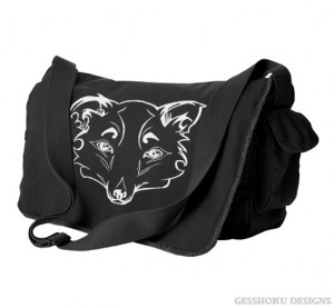 Mysterious Wise Kitsune Messenger Bag