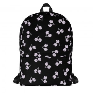 Gothic Cherry Skulls Classic Backpack with Laptop Sleeve