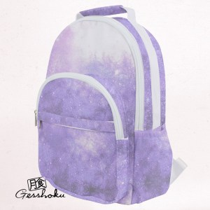 Pastel Purple Galaxy Backpack