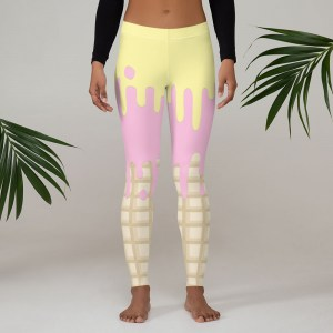 Dripping Ice Cream Pastel Leggings