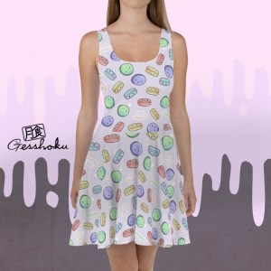 Delicious Macarons Skater Dress