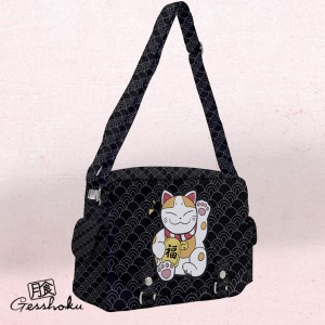 Maneki Neko Full-Print Messenger Bag