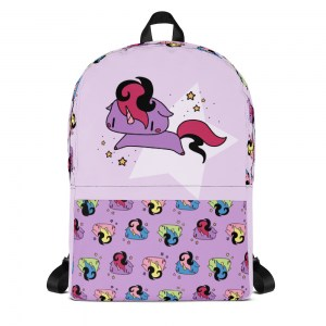 Sparkly Unicorn Classic Backpack in Purple