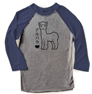 Alpaca Love Raglan T-shirt 3/4 Sleeve