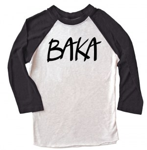 BAKA (text) Raglan T-shirt