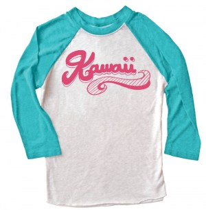 Kawaii Retro Swoosh Raglan T-shirt 3/4 Sleeve