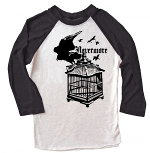 Nevermore: Raven's Cage Raglan T-shirt
