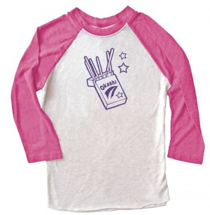 Okashi Kawaii Candy Raglan T-shirt 3/4 Sleeve