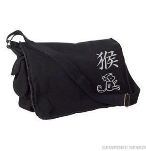 Year of the Monkey Chinese Zodiac Messenger Bag
