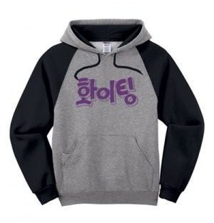 Fighting (Hwaiting) Korean Colorblock Hoodie