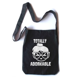Totally Adorkable Crossbody Tote Bag