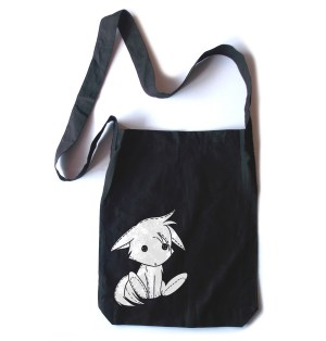Plush Kitsune Crossbody Tote Bag