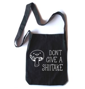 Don't Give a Shiitake Crossbody Tote Bag