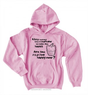Kitty Turned into a Cupcake Pullover Hoodie