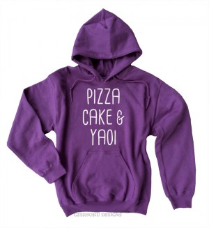 Pizza Cake & YAOI Pullover Hoodie