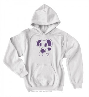 Futuristic Robot Bear Pullover Hoodie