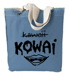 KOWAI not Kawaii Designer Tote Bag