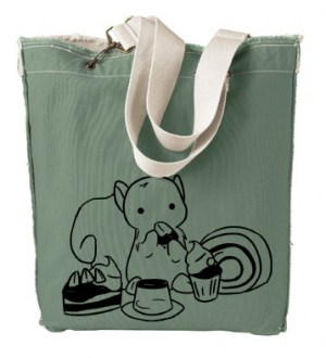 Squirrels and Sweets Designer Tote Bag