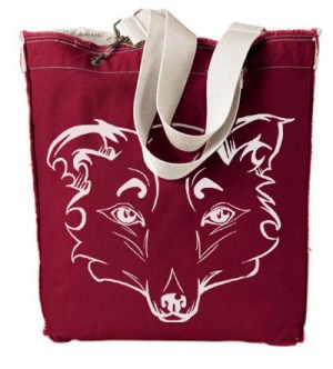 Mysterious Wise Kitsune Designer Tote Bag