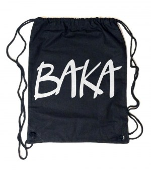 Baka (text) Canvas Drawstring Bag