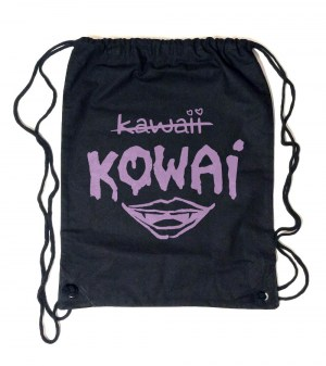 Kowai NOT Kawaii Canvas Drawstring Bag