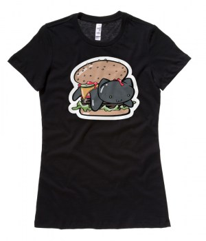 Kitty Burger Ladies T-shirt